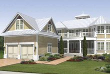 Country Exterior - Rear Elevation Plan #930-408