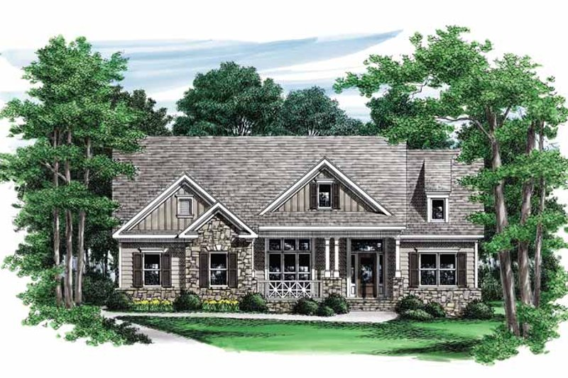 Craftsman Exterior - Front Elevation Plan #927-552