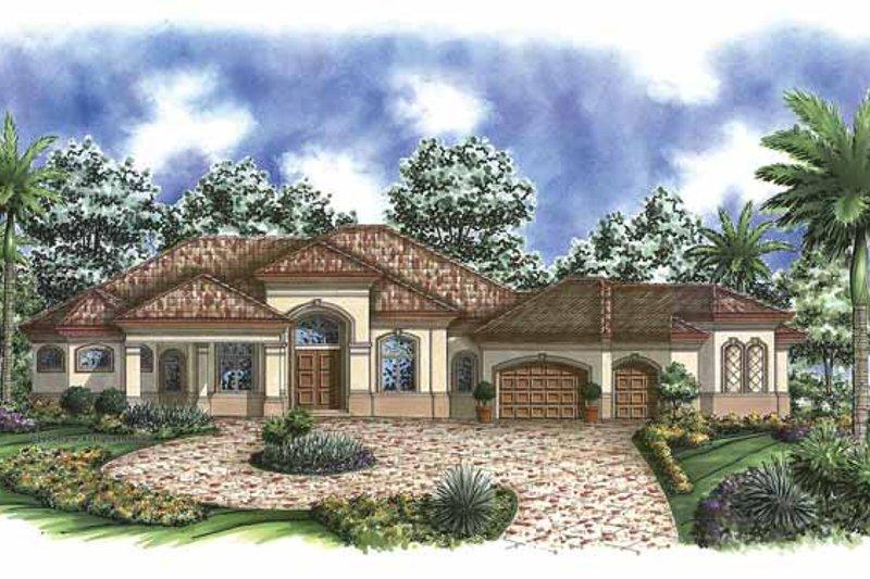 Dream House Plan - Mediterranean Exterior - Front Elevation Plan #1017-88
