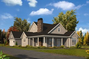 House Design - Country Exterior - Front Elevation Plan #57-669