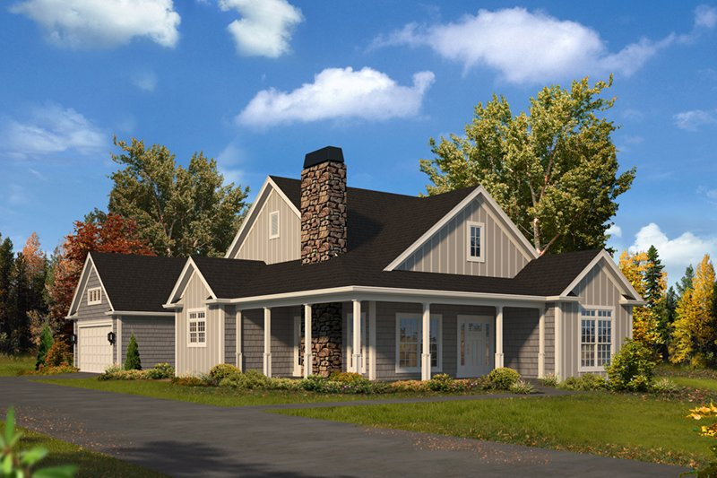 Architectural House Design - Country Exterior - Front Elevation Plan #57-669