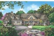 Craftsman Style House Plan - 4 Beds 3 Baths 3283 Sq/Ft Plan #929-889 Exterior - Front Elevation