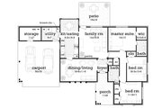 Ranch Style House Plan - 3 Beds 2 Baths 1394 Sq/Ft Plan #45-575 Floor Plan - Main Floor