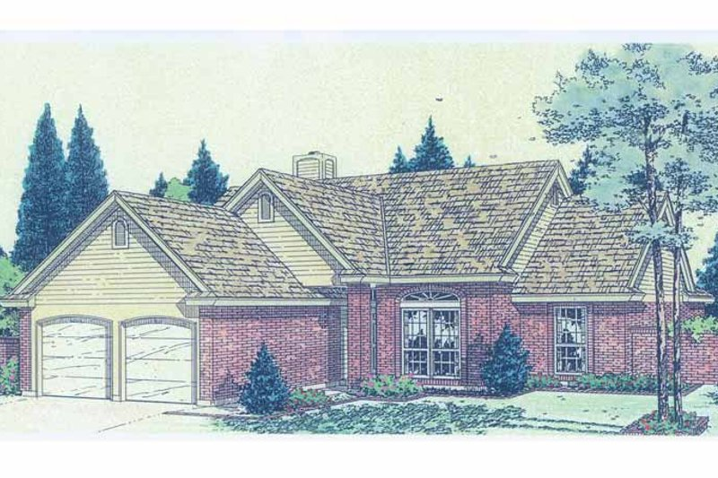 Ranch Exterior - Front Elevation Plan #310-1224