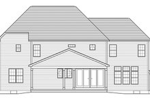 Home Plan - Traditional Exterior - Rear Elevation Plan #1010-205