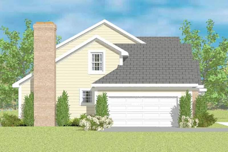House Blueprint - Colonial Exterior - Other Elevation Plan #72-1077