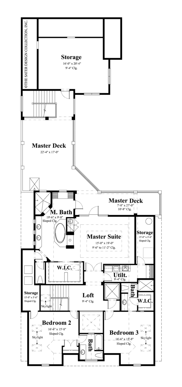 Traditional Floor Plan - Upper Floor Plan Plan #930-441
