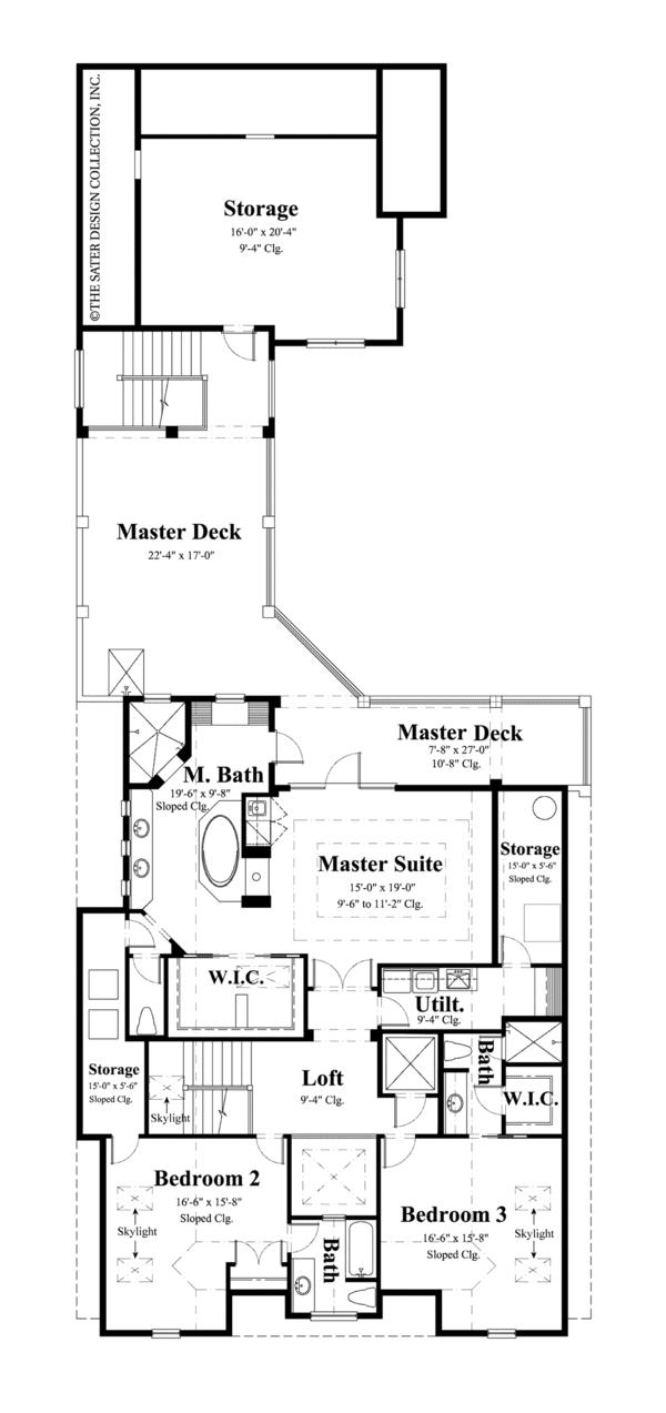 House Plan Design - Traditional Floor Plan - Upper Floor Plan #930-441