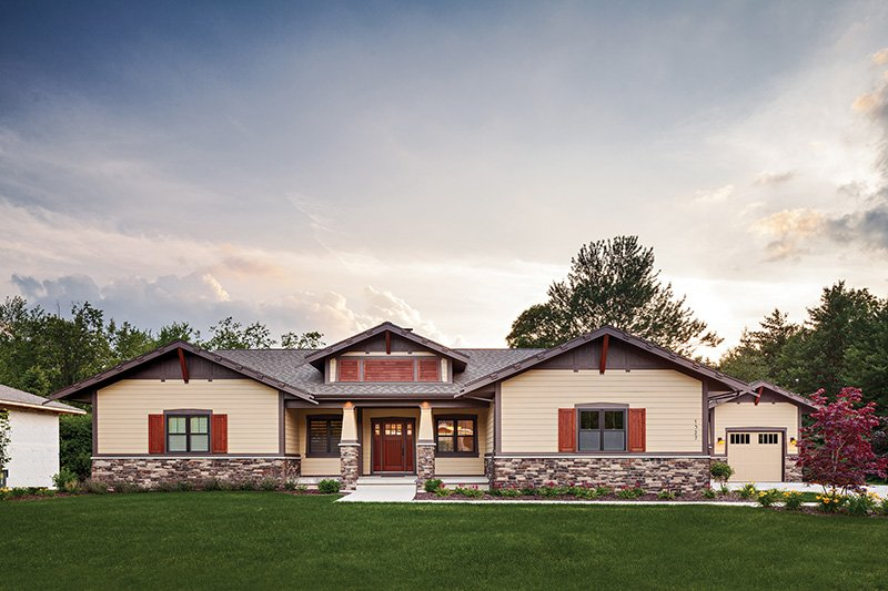 Craftsman Style House Plan - 3 Beds 2.5 Baths 3641 Sq/Ft Plan #928-266 Exterior - Front Elevation