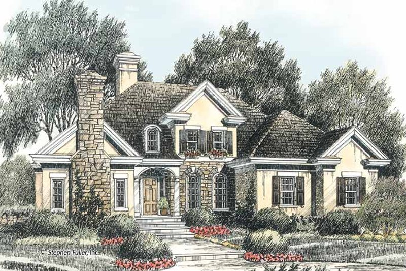 Colonial Exterior - Front Elevation Plan #429-377 - Houseplans.com