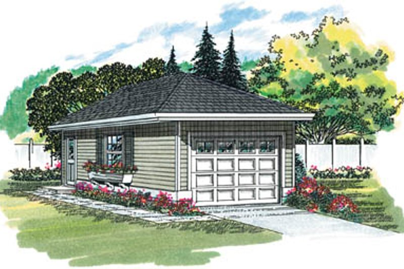 Traditional Exterior - Front Elevation Plan #47-488