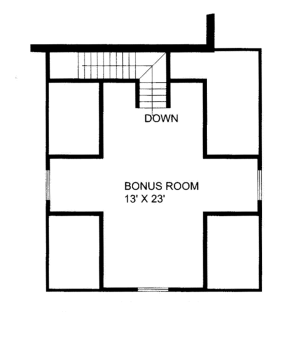 Ranch Floor Plan - Other Floor Plan Plan #117-854