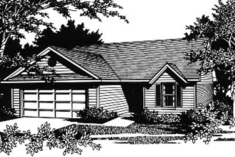 Traditional Exterior - Front Elevation Plan #14-137 - Houseplans.com