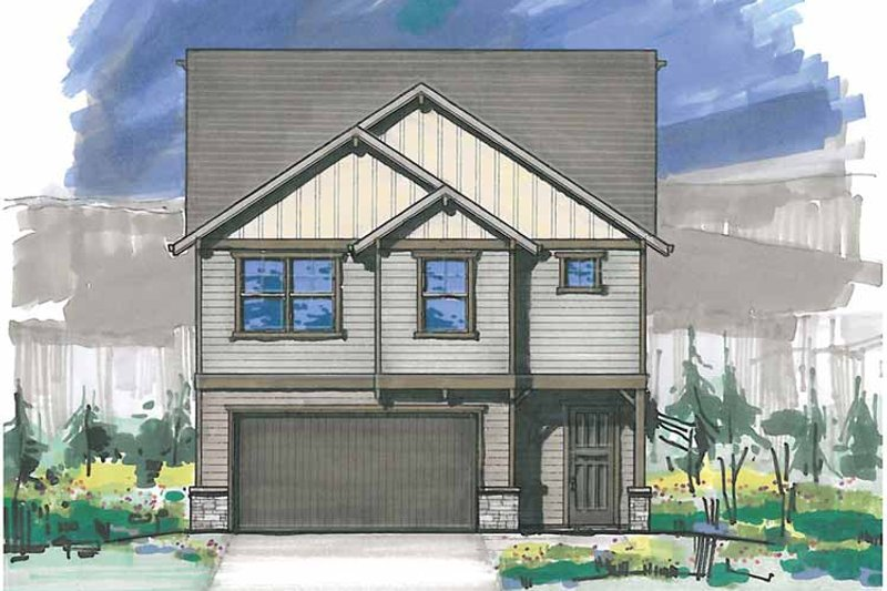 Traditional Exterior - Front Elevation Plan #509-253 - Houseplans.com