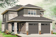 Architectural House Design - Contemporary Exterior - Front Elevation Plan #23-2608