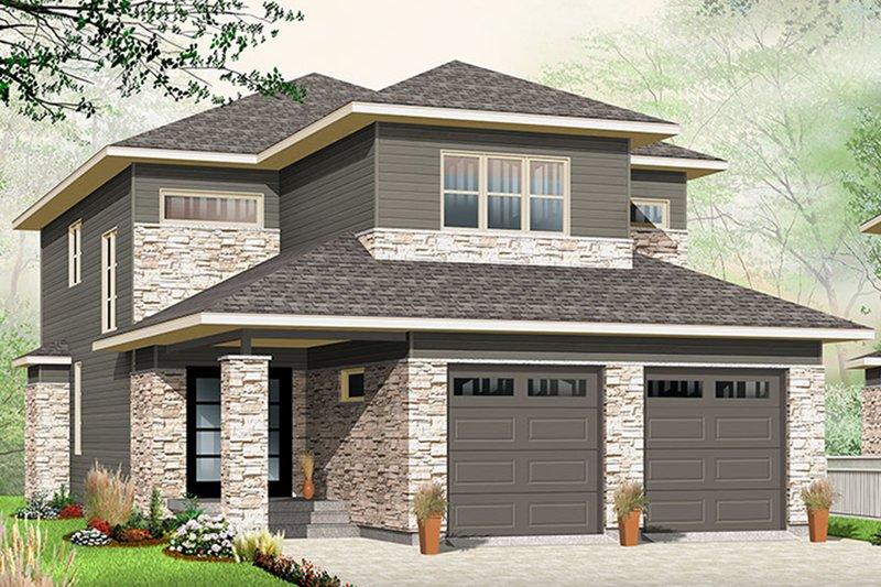 House Plan Design - Contemporary Exterior - Front Elevation Plan #23-2608