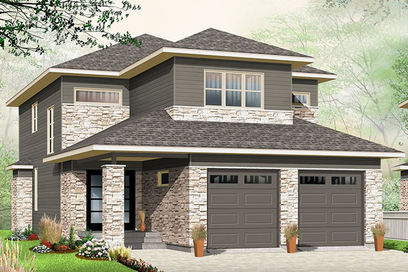 Home Plan - Contemporary Exterior - Front Elevation Plan #23-2608