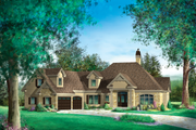 Traditional Style House Plan - 5 Beds 3 Baths 4897 Sq/Ft Plan #25-4472 Exterior - Front Elevation