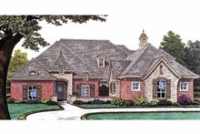 Country Exterior - Front Elevation Plan #310-1231