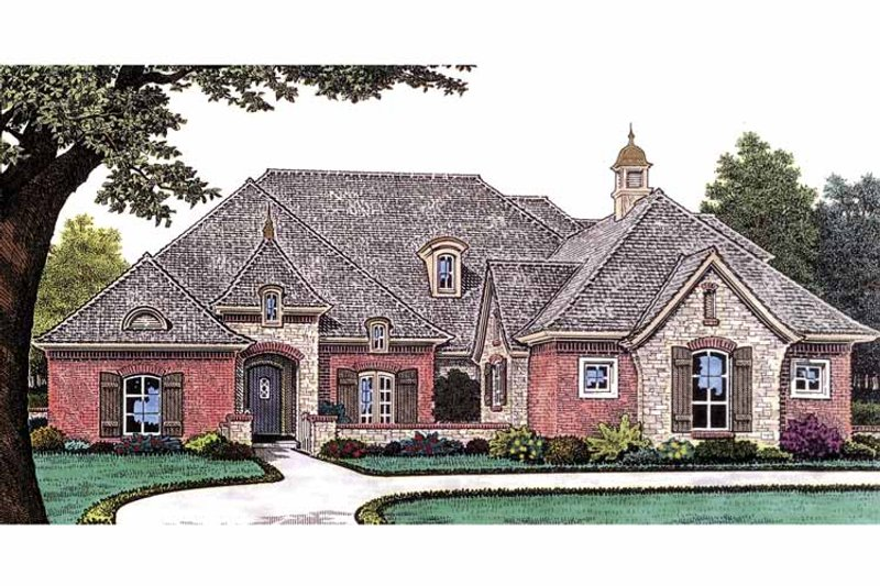Country Exterior - Front Elevation Plan #310-1231 - Houseplans.com