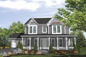 Dream House Plan - Traditional Exterior - Front Elevation Plan #320-989