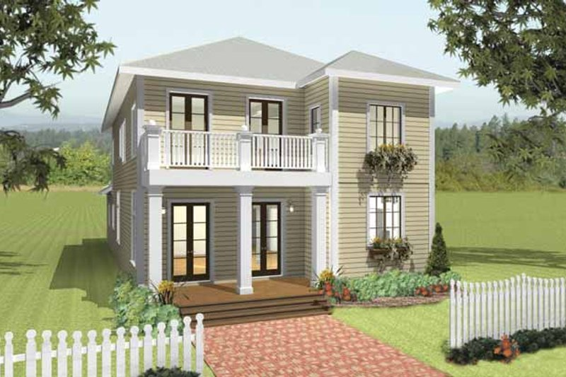Traditional Exterior - Front Elevation Plan #44-215