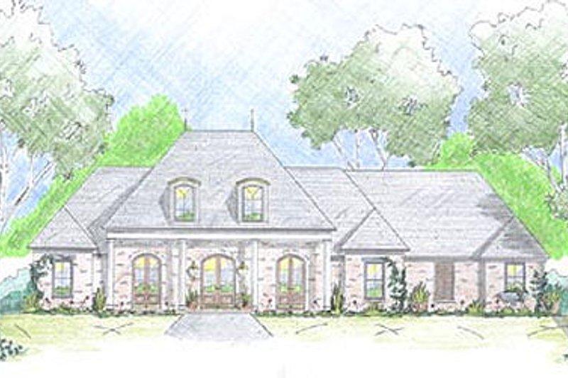 Dream House Plan - Mediterranean Exterior - Front Elevation Plan #36-463