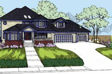 Architectural House Design - Victorian Exterior - Front Elevation Plan #60-1013
