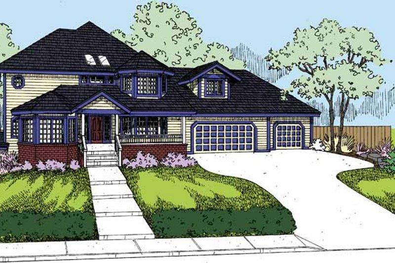 Architectural House Design - Victorian Exterior - Front Elevation Plan #60-1013