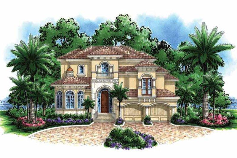 Dream House Plan - Mediterranean Exterior - Front Elevation Plan #1017-132