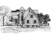 Traditional Style House Plan - 3 Beds 3 Baths 1747 Sq/Ft Plan #20-516 Exterior - Front Elevation