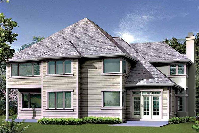 Traditional Exterior - Rear Elevation Plan #132-425 - Houseplans.com