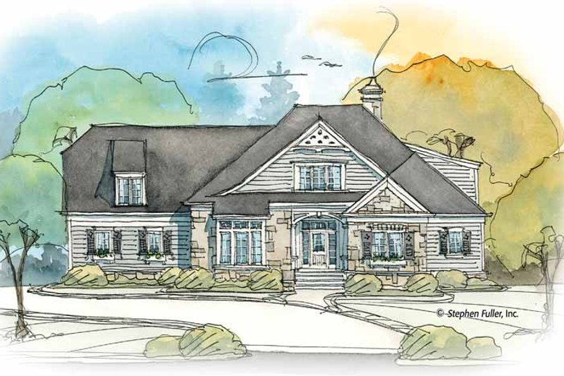 Country Exterior - Front Elevation Plan #429-373