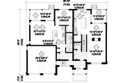 Contemporary Style House Plan - 4 Beds 3 Baths 2713 Sq/Ft Plan #25-4609 Floor Plan - Main Floor Plan