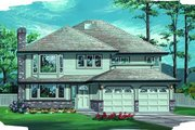 Traditional Style House Plan - 3 Beds 2 Baths 1617 Sq/Ft Plan #47-560 Exterior - Front Elevation