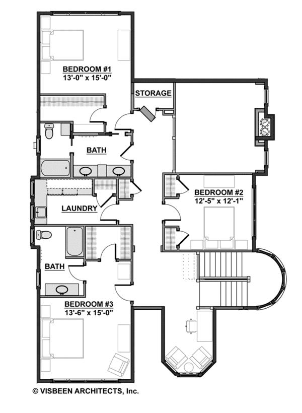 Traditional Floor Plan - Upper Floor Plan Plan #928-271