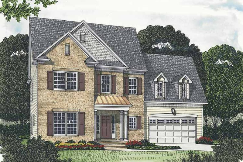 Architectural House Design - Traditional Exterior - Front Elevation Plan #453-537