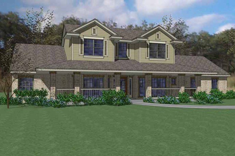 Country Exterior - Front Elevation Plan #120-234