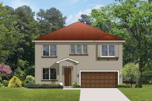 Architectural House Design - Mediterranean Exterior - Front Elevation Plan #1058-63