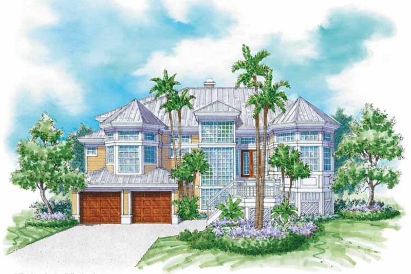Mediterranean Exterior - Front Elevation Plan #930-32