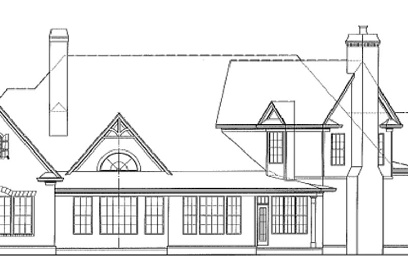 Craftsman Exterior - Rear Elevation Plan #54-280 - Houseplans.com