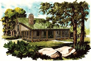 Dream House Plan - Cabin Exterior - Front Elevation Plan #942-34