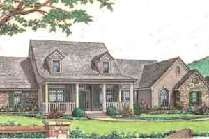 Country Exterior - Front Elevation Plan #310-232