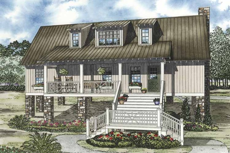 Home Plan - Country Exterior - Front Elevation Plan #17-3280