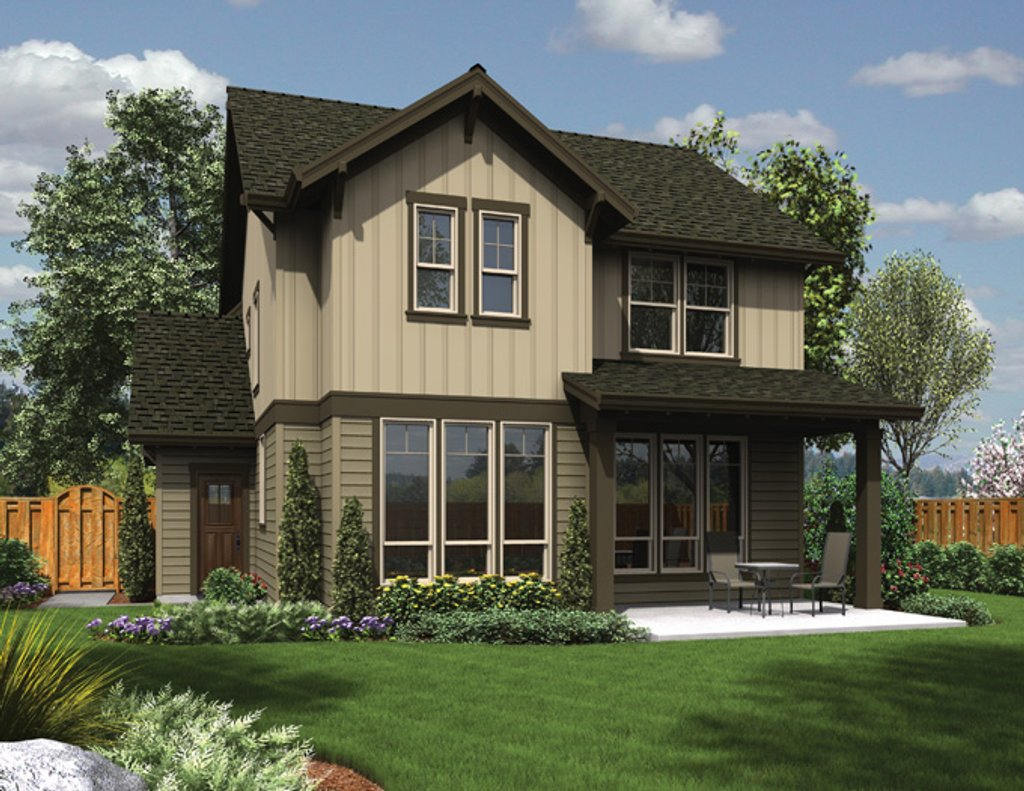Craftsman style house plan 3 beds 2 5 baths 1635 sq ft for Craftsman vs mission style