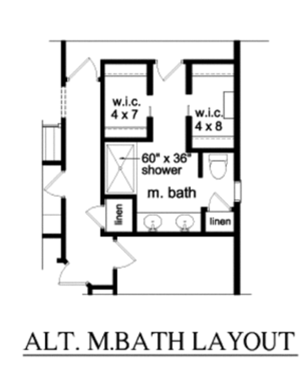 Ranch Floor Plan - Main Floor Plan Plan #1010-87