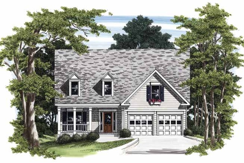 Country Exterior - Front Elevation Plan #927-250