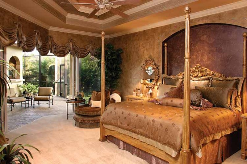 Mediterranean Interior - Master Bedroom Plan #1017-2 - Houseplans.com