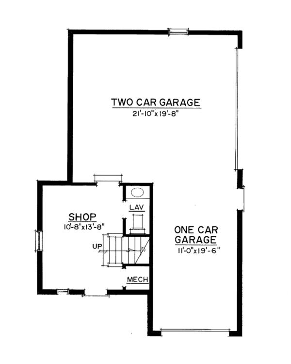 Colonial Floor Plan - Main Floor Plan Plan #1016-103