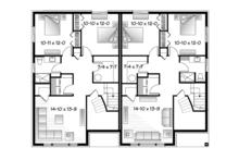 Contemporary Floor Plan - Lower Floor Plan Plan #23-2597